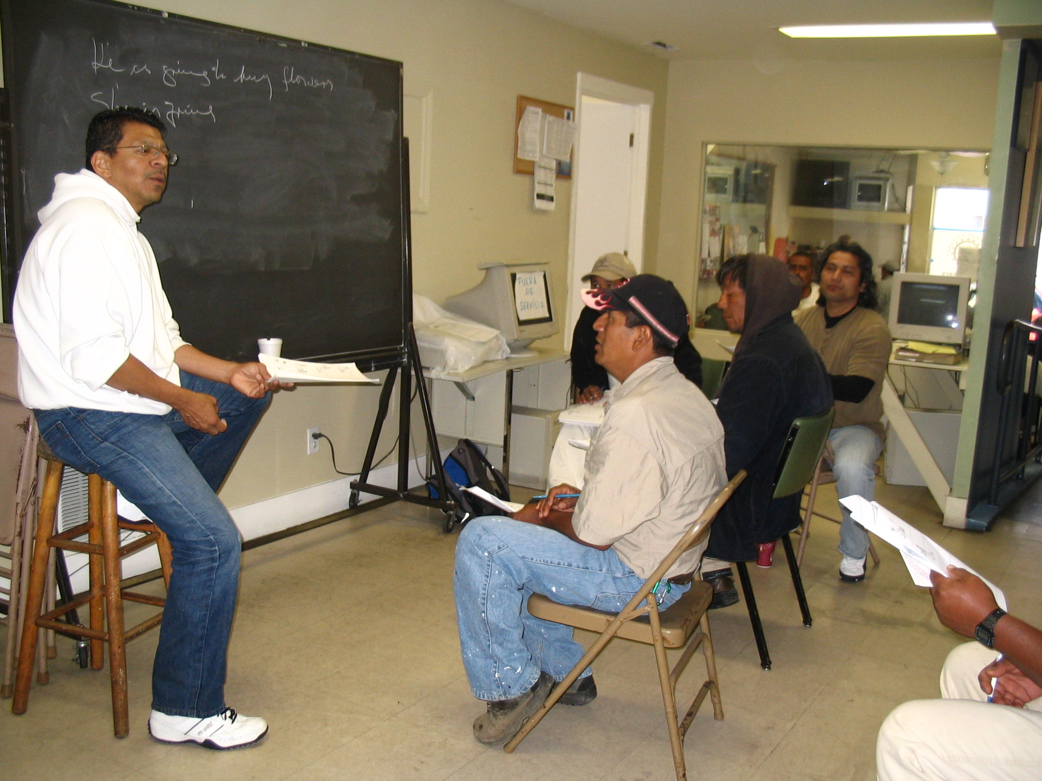 Photo:  English Class at the Day Labor Program.  2007 Preeti Shekar 